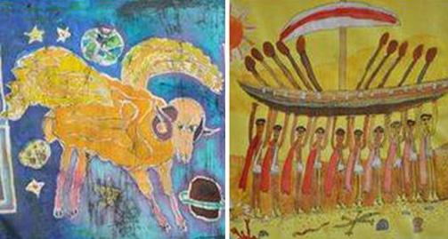 Λεπτομέρειες διακριθέντων έργων του διαγωνισμού παιδικής ζωγραφικής