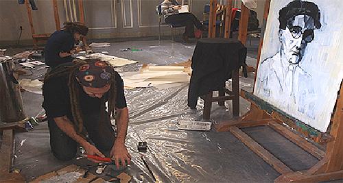 Στιγμιότυπο από την διαδικασία των εργαστηρίων