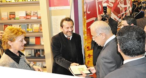Φωτογραφικό στιγμιότυπο από την επίσκεψη του πρωθυπουργού της Αιγύπτου, κυρίου Σερίφ Ισμαήλ, στο Ελληνικό Περίπτερο