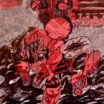 Θοδωρής Λάιος, Άτιτλο, 2016 (50 x 70 εκ., μικτή τεχνική)
