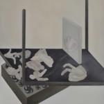 Χαρά Πιπερίδου, Friction under grinding, 2012 (120 x 100 εκ., λάδι)