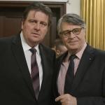 Ο Πρόεδρος της Ένωσης Ελλήνων της Ρουμανίας, κ. Dragoș Zisopol (α) και ο Πρέσβης της Ελλάδας στην Ρουμανία, κ. Γρηγόριος Βασιλοκωνσταντάκης (Φωτογραφία: Mihai Cratofil)