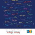 Η αφίσα για την Ευρωπαϊκή Ημέρα Γλωσσών στην Αλεξάνδρεια.