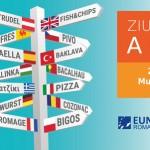 Λεπτομέρεια ενημερωτικού υλικού για τις εκδηλώσεις στο Βουκουρέστι.