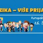 Λεπτομέρεια ενημερωτικού υλικού των εκδηλώσεων για την Ευρωπαϊκή Ημέρα Γλωσσών στο Βελιγράδι.