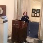 Η αρχαιολόγος, Καλλιόπη Λημναίου-Παπακώστα, κατά τη διάρκεια της ομιλίας της.