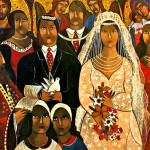 Χρόνη Καλλιρρόη, Ο γάμος, λάδι σε καμβά, 80x100.