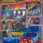 Έργο της Άννα Νανέγκα. 2ο Βραβείο στον 23ο διαγωνισμό παιδικής ζωγραφικής.