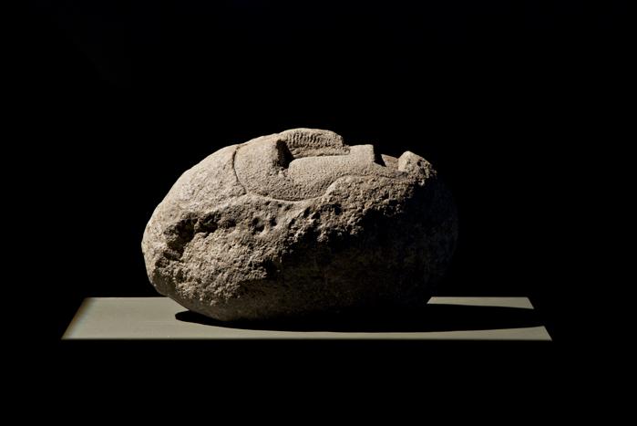 Πολεμιστής με Κράνος 1, Ηφαιστειακή Πέτρα, 2009.