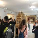 Φωτογραφικό στιγμιότυπο από την επίσκεψη στο Μουσείο της Ελληνικής Κοινότητας Τεργέστης.