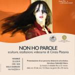 «Δεν έχω λέξεις» από την Cinzia Platania [20-31 Μαρτίου 2019, αίθουσα Giubileo, Τεργέστη].