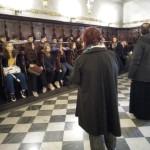 Στιγμιότυπο από την επίσκεψη στην Ελληνική Ορθόδοξη Εκκλησία του Αγίου Νικολάου.
