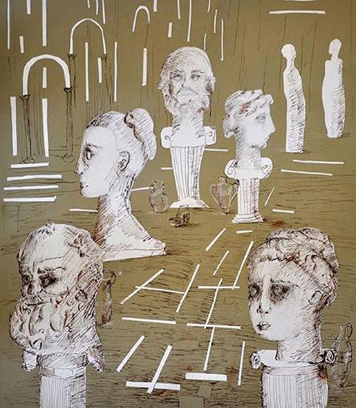 Όλγα Ζουμπέτς, 12 ετών, «Στο μουσείο Επιφανών Ελλήνων» - 1ο Βραβείο στον διαγωνισμό παιδικής ζωγραφικής «Η Ελλάδα με τα μάτια των παιδιών».