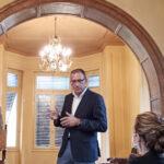 Ο Πρόεδρος του ΕΙΠ, κ. Νίκος Α. Κούκης, κατά τη διάρκεια του χαιρετισμού του στην Ημερίδα