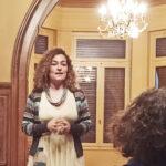 Η εισηγήτρια στην Ημερίδα, κ. Αλεξάνδρα Μπελεγράτη, κατά τη διάρκεια της ομιλίας της.