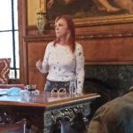 Φωτογραφικό στιγμιότυπο κατά τη διάρκεια της ομιλίας της κ. Ρένας Ρίγγα στο Σεμινάριο