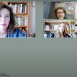 Στιγμιότυπο κατά τη διάρκεια της συζήτησης «Το λογοτεχνικό καλειδοσκόπιο του παρόντος: Η περιπέτεια της μορφής» με ομιλητές τους συγγραφείς Τάκη Κατσαμπάνη, Χάρη Γαρουνιάτη, Δήμητρα Λουκά, και Θανάση Γαλανάκη. Τη συζήτηση συντόνισε η ποιήτρια Κατερίνα Ηλιοπούλου, επιμελήτρια του Φεστιβάλ Νέων Λογοτεχνών.