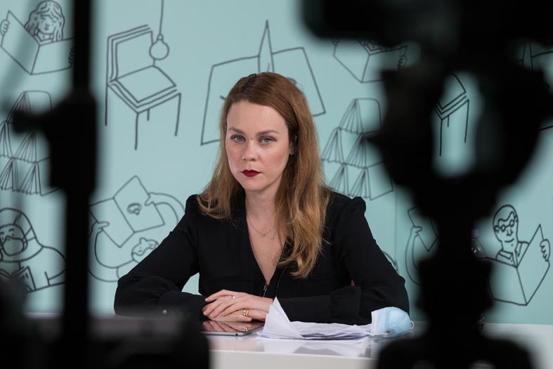 Η ηθοποιός Λένα Παπαληγούρα