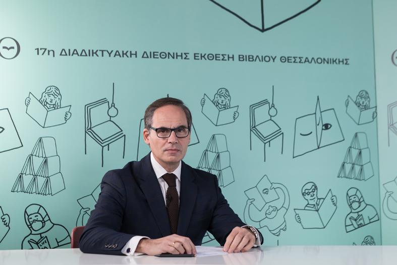 Ο Αντιπρόεδρος του Ελληνικού Ιδρύματος Πολιτισμού, Ανδρέας Σιδέρης