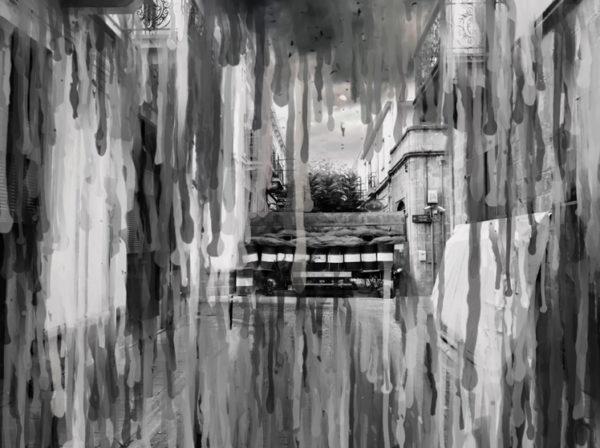 "«WE BLEED BLUE …ονειρεύομαι μόνο τις ελιές», 7 video art screenings διάρκειας 30""/ καθένα, χωρίς ήχο, 2021, ποίηση: Δάφνη Νικήτα, video art: Γιώργος Ταξιαρχόπουλος, video still image, ανήκει στους καλλιτέχνες."