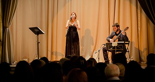Teti Kasioni și Yorgos Athanasiou la București, Institutul Cultural Român (foto: Diana Năstase)