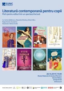 Literatură contemporană pentru copii, Muzeul Naţional al Literaturii Române în Sala Ion Băieșu, 28 octombrie 2019