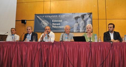 Από αριστερά: Κώστας Μαυρίδης, Λευτέρης Χριστοφόρου, Δημήτρης Παπαδάκης, Σάββας Ιακωβίδης, Ελένη Θεοχάρους, Γιώργος Κέντας.