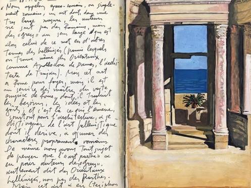Notebook, by Alekos Levidis, from a show at HFC–Berlin, 2014. © Alekos Levidis.