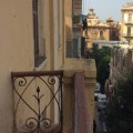 The balcony in Cavafy's apartment, now the Cavafy Museum. HFC.