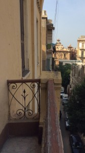 The balcony in Cavafy's apartment, now the Cavafy Museum.