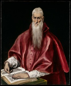 Saint Jerome as Scholar, by El Greco, c. 1610. Courtesy www.metmuseum.org