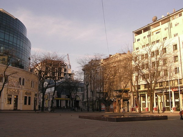 Greek Square in Odessa, so named because of the historical Greek presence in the city.