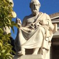 Statue of Plato in front of the Academy of Athens, 19th century. HFC.