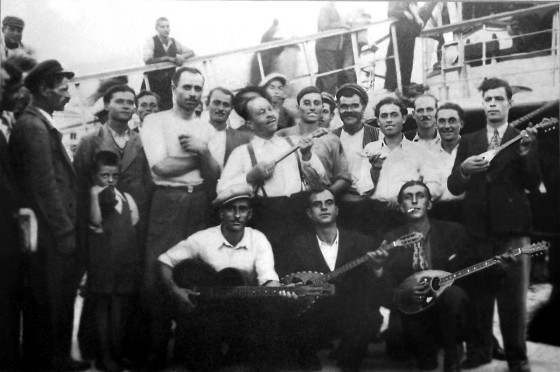 Rebetiko musicians. Public Domain.