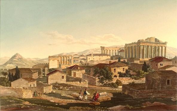 Acropolis, by Edward Dodwell in Views in Athens. Public domain.