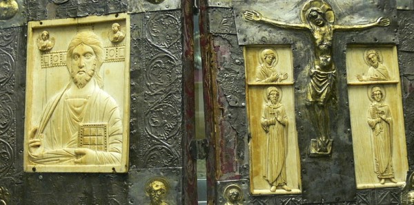Medieval Gospel Book Cover with Byzantine and western elements, detail. Wikimedia Commons.