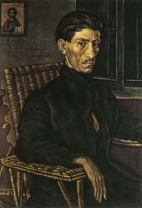 Nikolaos Chrysochoou (portrait), Photis Kontoglou, 1924. Collection of Hestia, Nea Smyrni, Athens. Courtesy of the Kontoglou estate.