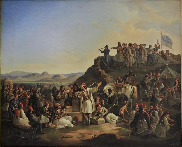 Encampment of Karaïskakis, Theodoros Vryzakis, 1855.