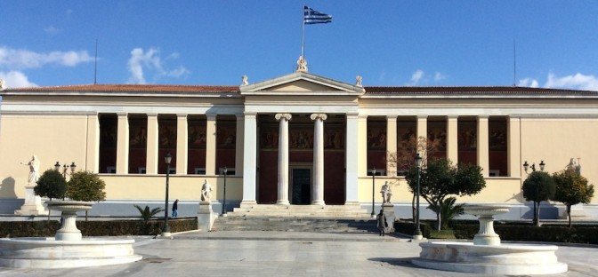 Central building of the University of Athens.