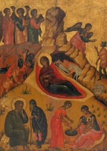 The Nativity, Icon, Victor of Crete, c. 1660-76. National Gallery of Victoria.