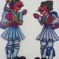 Palikaria, Karagiozis figures, courtesy of the Haridimos Shadow Puppet Museum