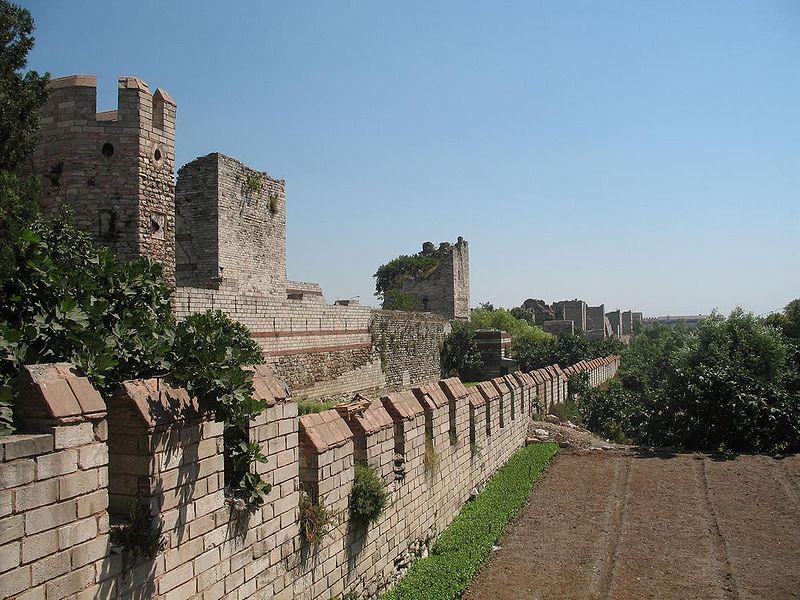 Theodosian Walls. Public domain.