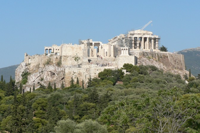 The Acropolis photographed from the west side.