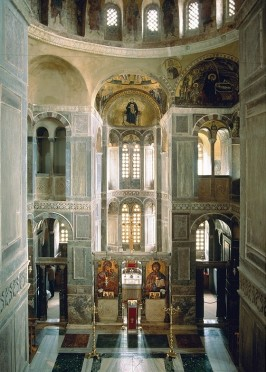 Interior of the Katholikon – Hosios Loukas. Courtesy Hosios Loukas Monastery.