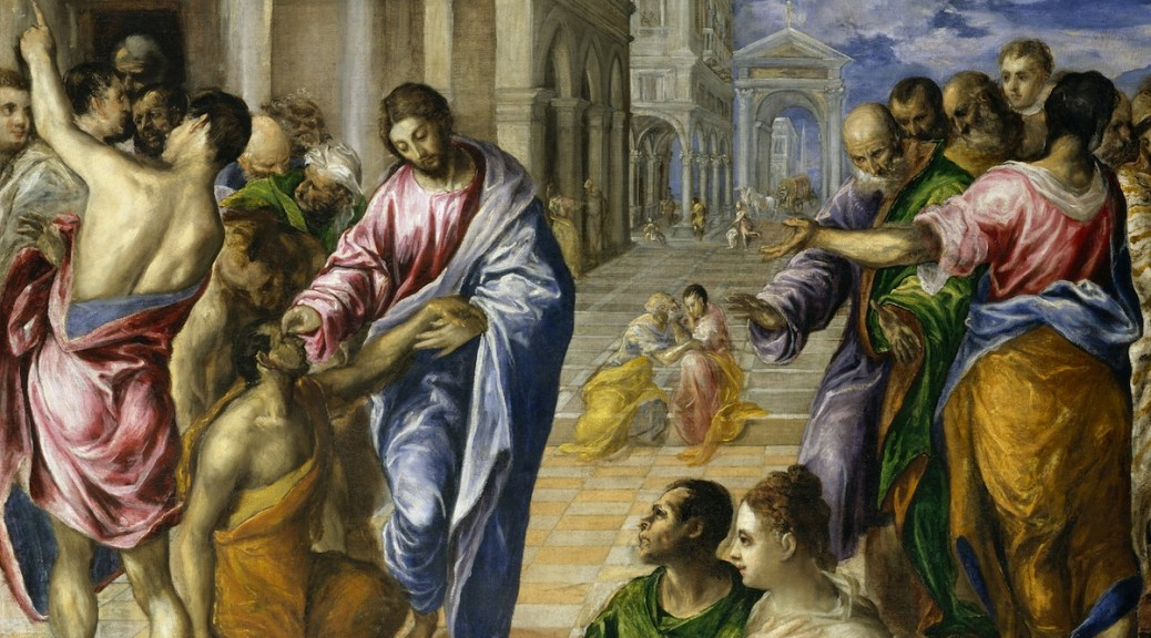 Christ Healing the Blind, El Greco, c. 1570. Courtesy www.metmuseum.org.