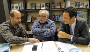 Lakis Yiallourides, president of HFC, with the president of OSDEL, Mr. Karatzas.