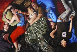 Dimitris Tzamouranis: Melancholia Altar 2012; Polyptychon 420 X 640cm; oil on wood; courtesy Michael Haas Gallery Berlin; Photo Jens Kunath